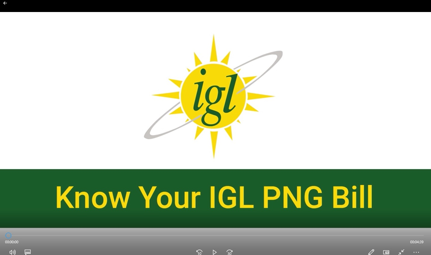 Know Your IGL PNG Bill